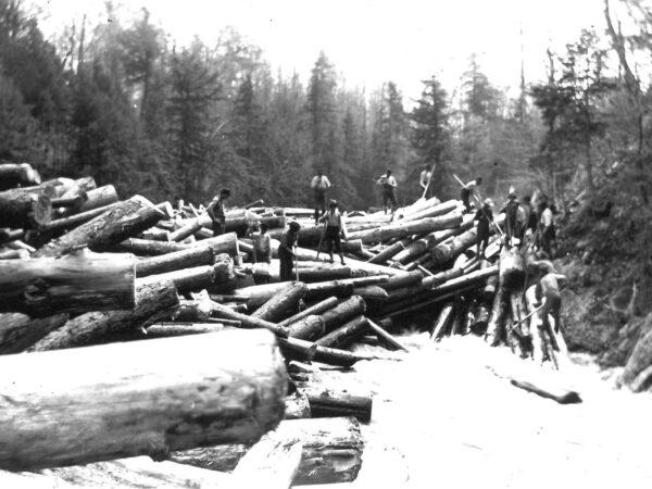 Breaking up log jam
