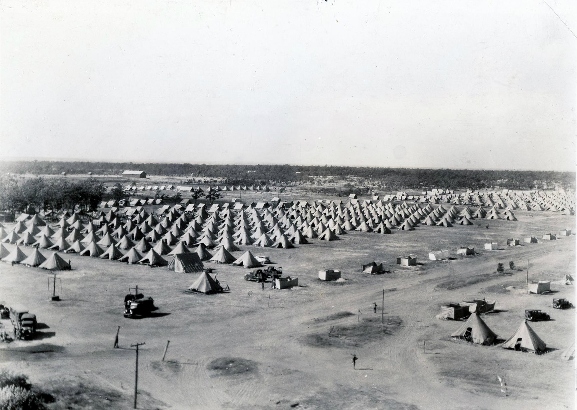 Aerial view of Pine Camp in Fort Drum region |