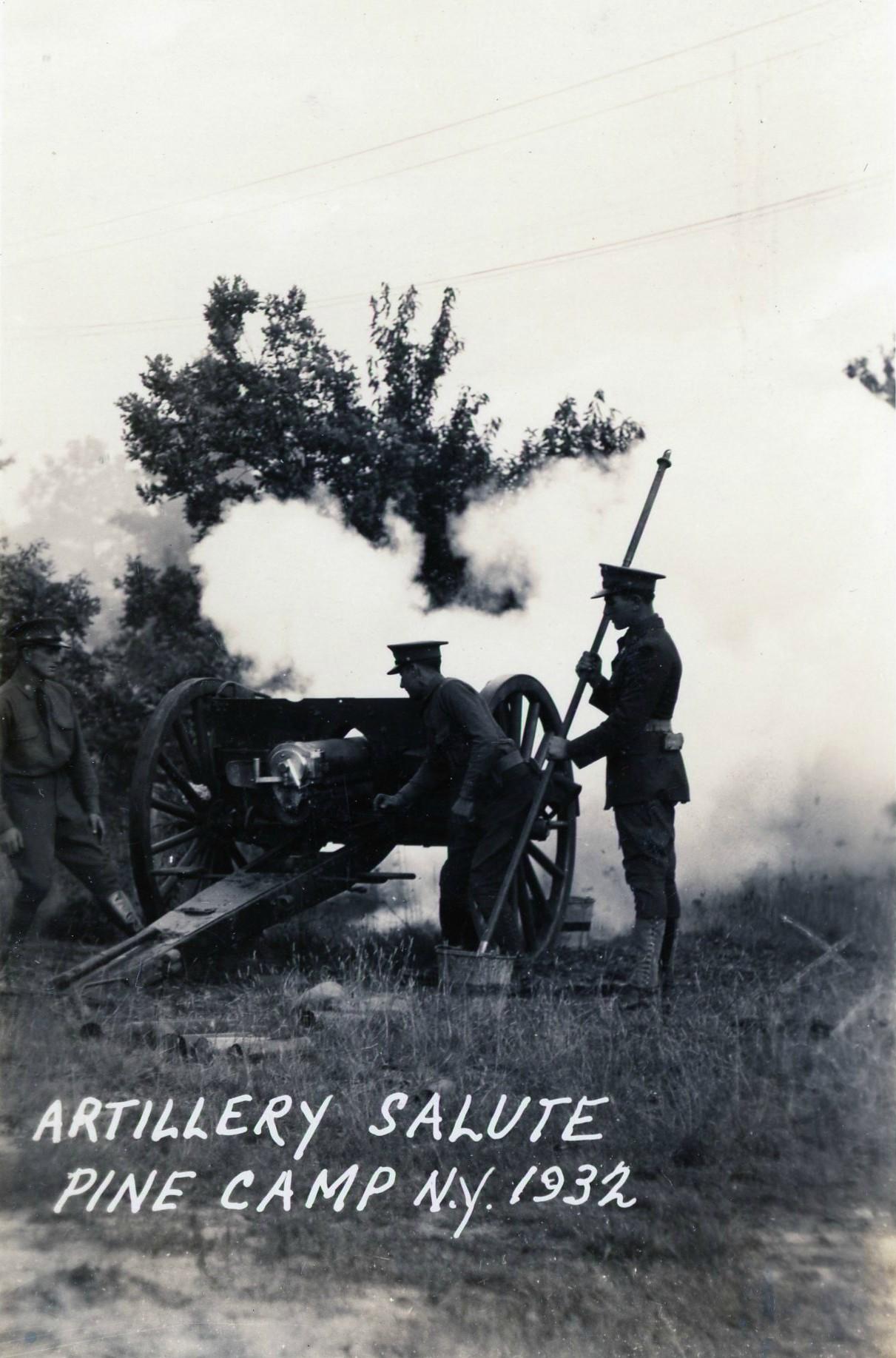 Artillery Salute at Pine Camp |