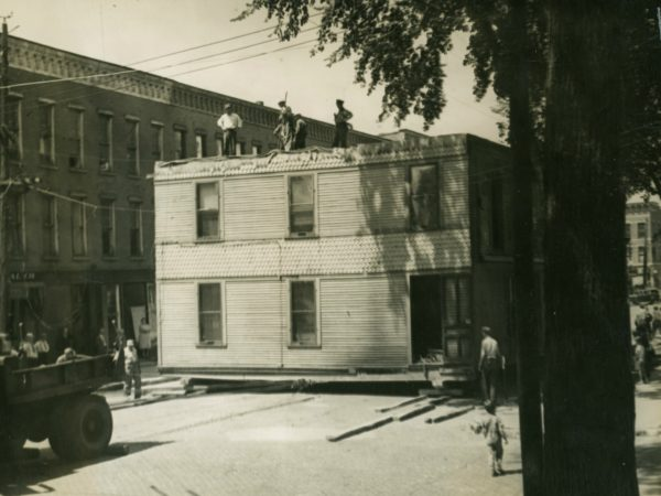 Moving a four-apartment house in downtown Ogdensburg