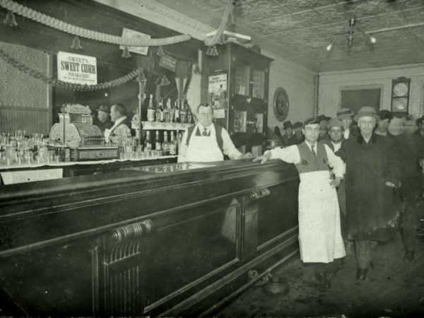 Inside the Grand Union Hotel bar in Carthage
