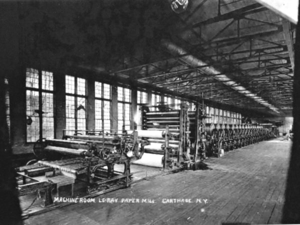LeRay Paper Mill machine room in Carthage