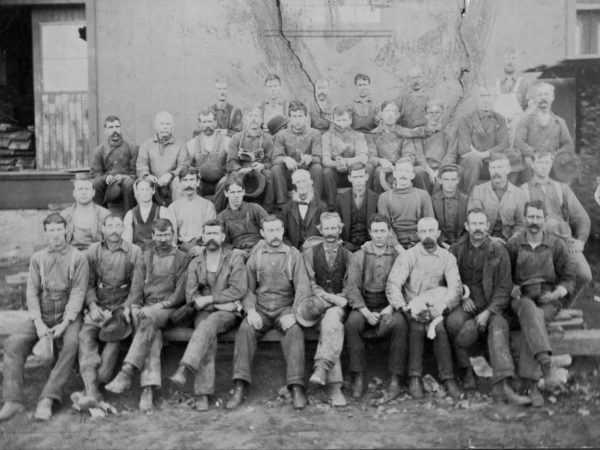 Portrait of LeRay Paper Mill workers in LeRay