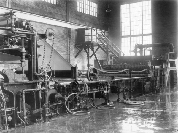 National Paper Products factory interior in Carthage