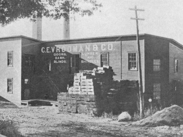 C.E. Vrooman lumber company in Carthage