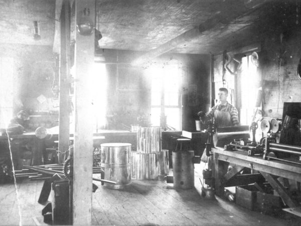 Backroom workshop of Arnot Hardware Store in Carthage