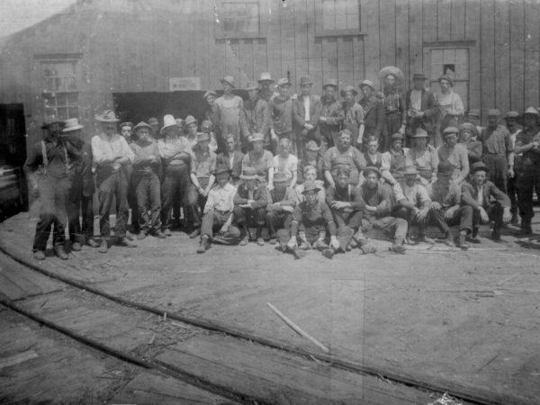 Gifford Sawmill workmen in Champion