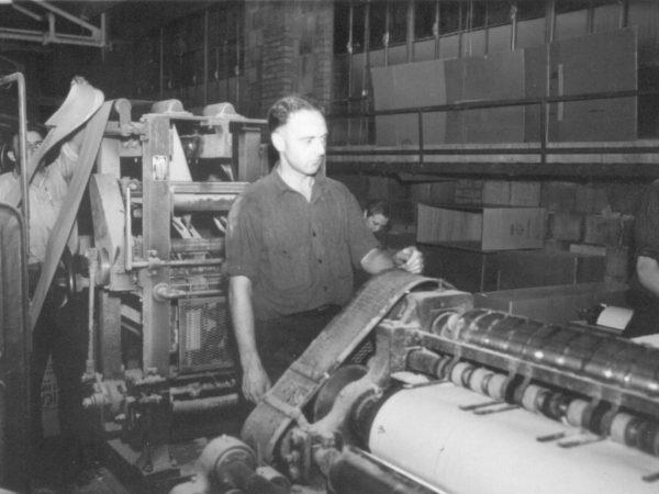 Men at work in Crown Zellerbach paper mill in Carthage