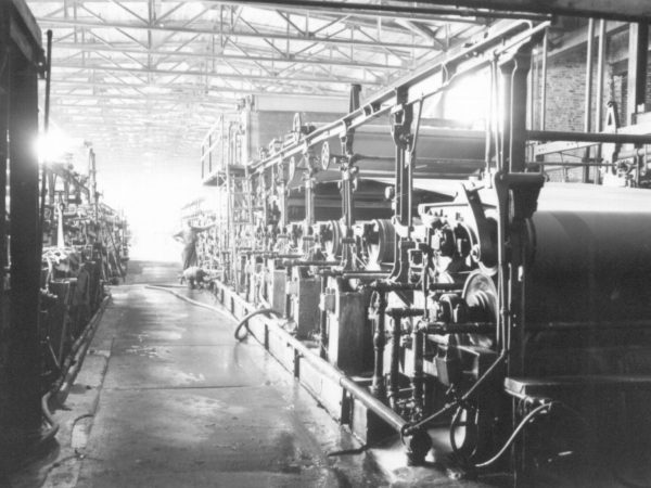 Interior of a paper mill in Carthage