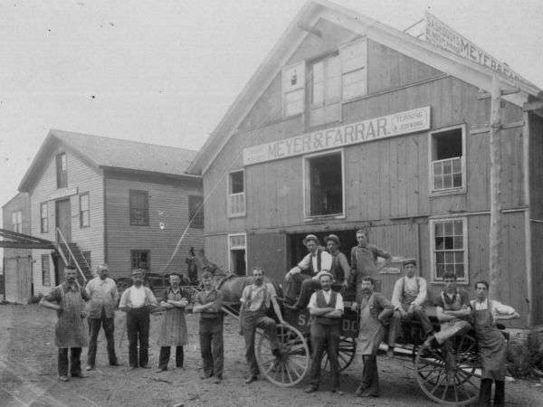 Workers at the Meyer & Farrar factory in Carthage
