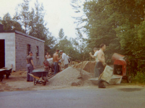Constructing the Cranberry Lake Fire Hall in Cranberry Lake