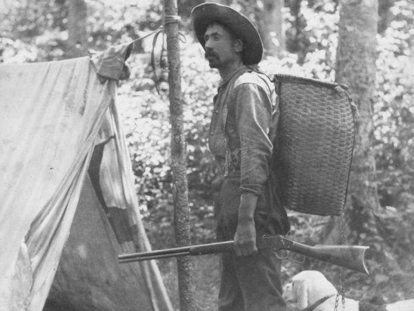 Guide Bill Rasbeck in Cranberry Lake