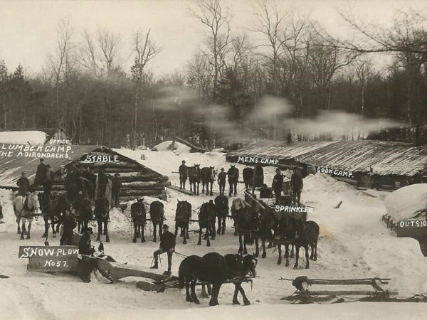 A Model Lumber Camp in the Adirondacks