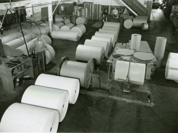 The wrapping room inside the Newton Falls Paper Mill in Newton Falls