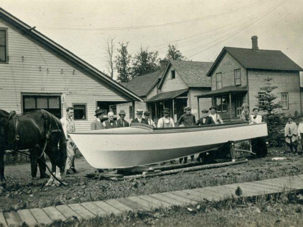 Boat launching in Wanakena