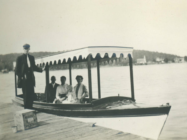 Pleasure boat on Cranberry Lake