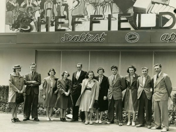 Lisbon High School senior class of 1939 visits the Sheffield Milk plant in New York City