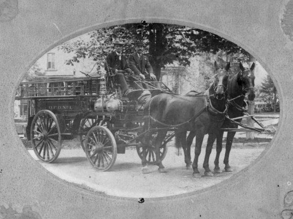 Horse Drawn Ladder Truck in Ogdensburg