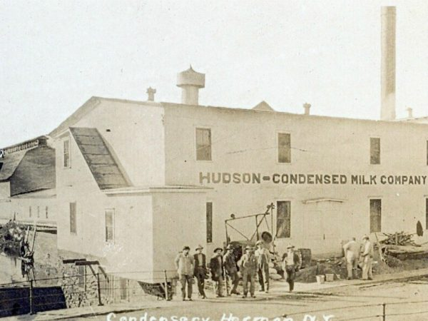 Exterior of Hudson Condensed Milk Company in Hermon