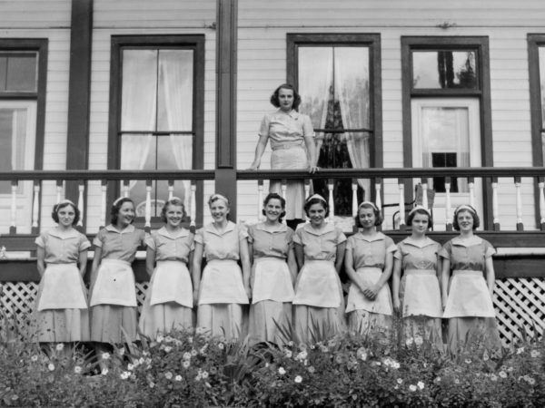 Waitresses of the Bald Mountain House on Third Lake in the Town of Webb