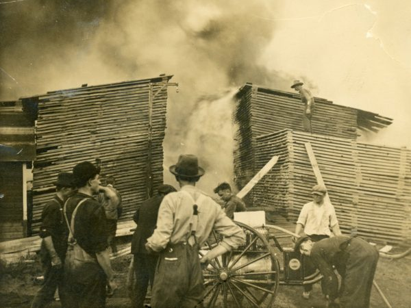 Brown's Tract Mill fire in Thendara