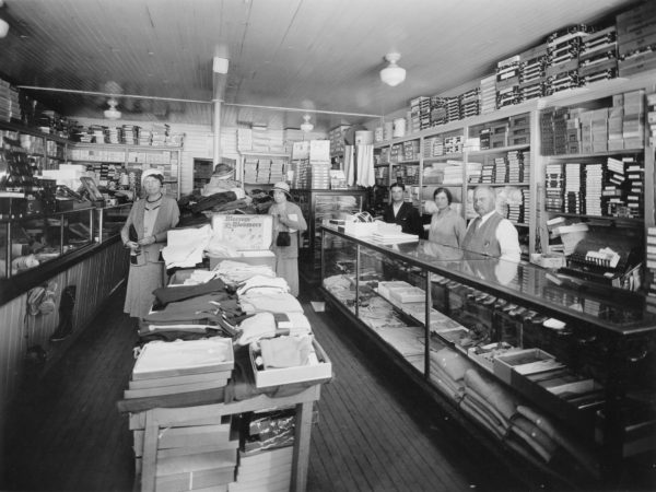Interior of the Berkowitz dry goods and clothing store in Old Forge