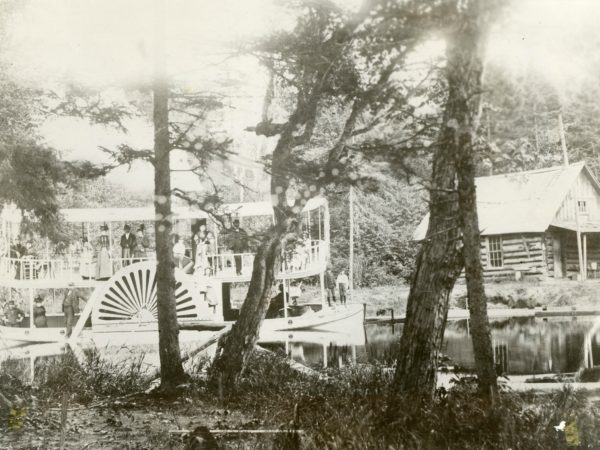 The Fawn steamer in the Town of Webb