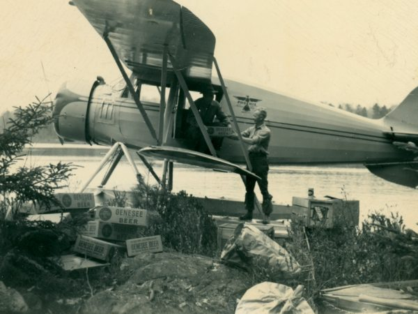 Seaplane preparing for a freight trip in Inlet
