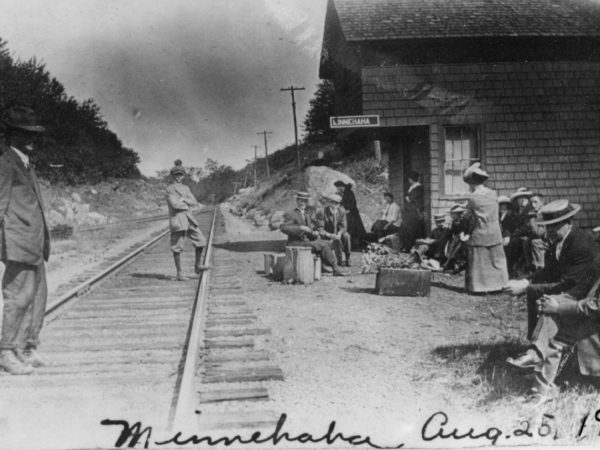 Waiting at the Minnehaha Railroad Station in the Town of Webb