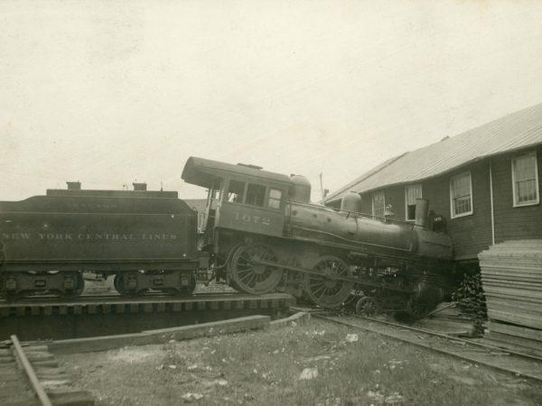 Train derailment at Fulton Chain in Old Forge
