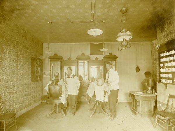 Barber shop interior in De Kalb Junction