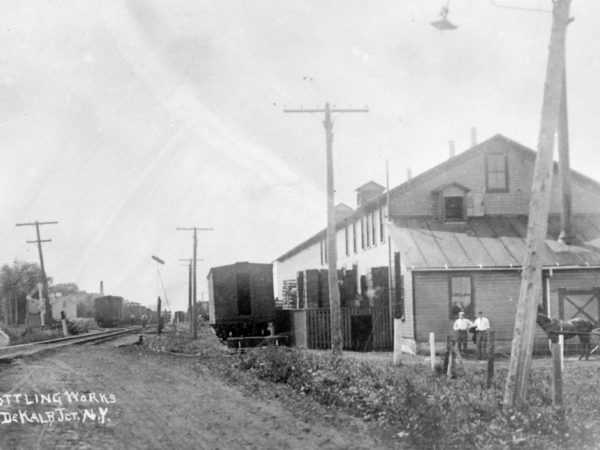 Borden's milk plant in De Kalb Junction