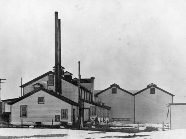Borden's milk plant ice houses in De Kalb Junction