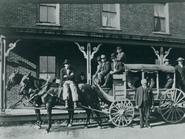 Edward Burnham's stage coach in De Kalb Junction