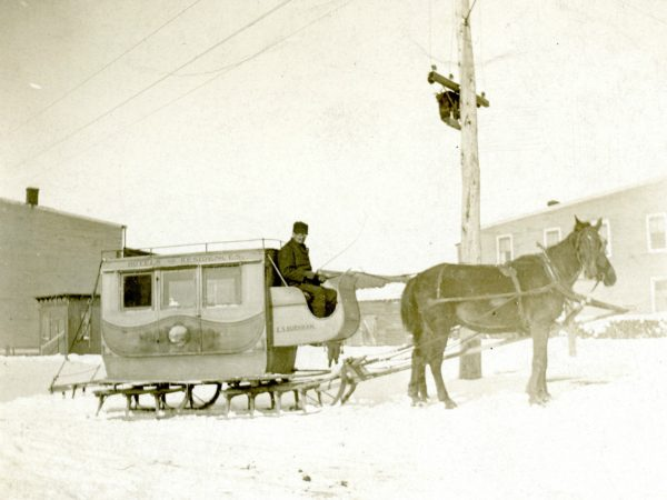 Edward Burnham's stage coach en route in De Kalb Junction