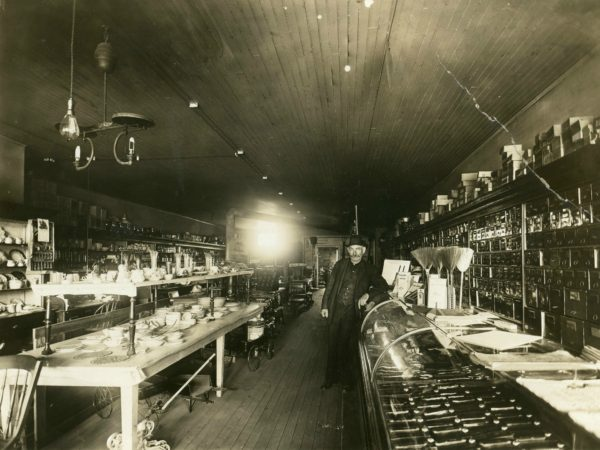 24. Interior of a hardware store in De Kalb Junction