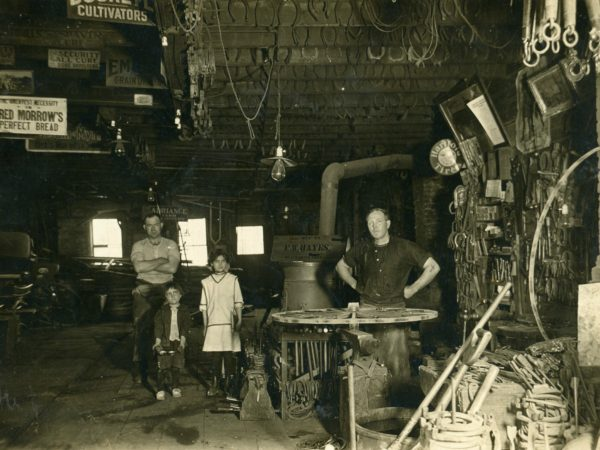 F.W. Hayes Blacksmith Shop in the Town of De Kalb