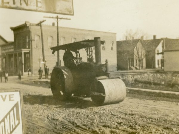 Steam roller in DeKalb Junction