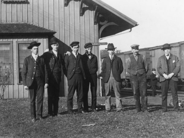 New York Central Railroad day crew in De Kalb Junction