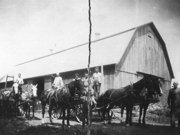 Filling silo at the Allen Farm in Canton