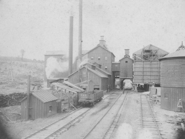 Benson Mines railyard in Benson Mines