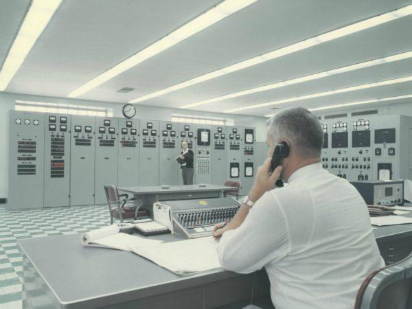 Telephone operator taking calls in Colton
