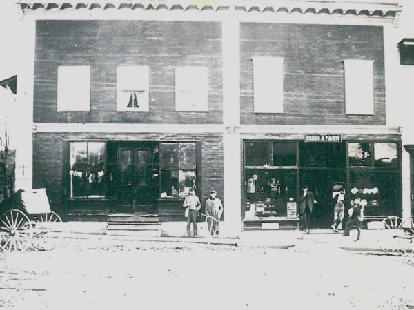 F.B. Beaman Drugstore on Main Street in Richville