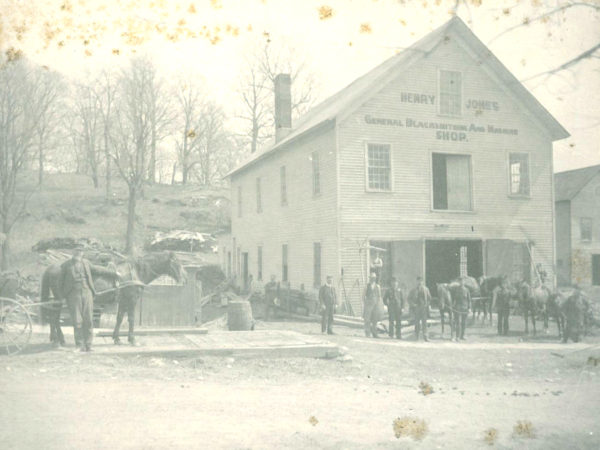 Exterior of the Henry Jones General Blacksmith and Machine Shop in Richville
