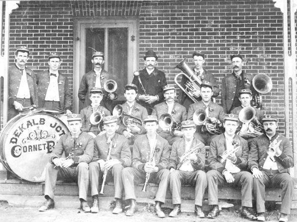 The De Kalb Junction Cornet Band in De Kalb