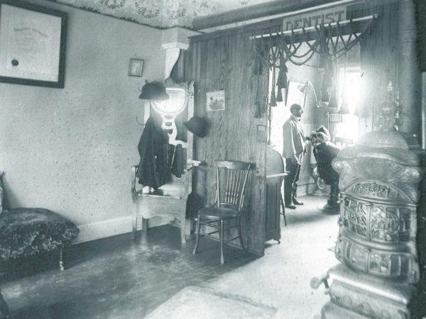 Inside Doctor Austin's dentist office in Renssalaer Falls