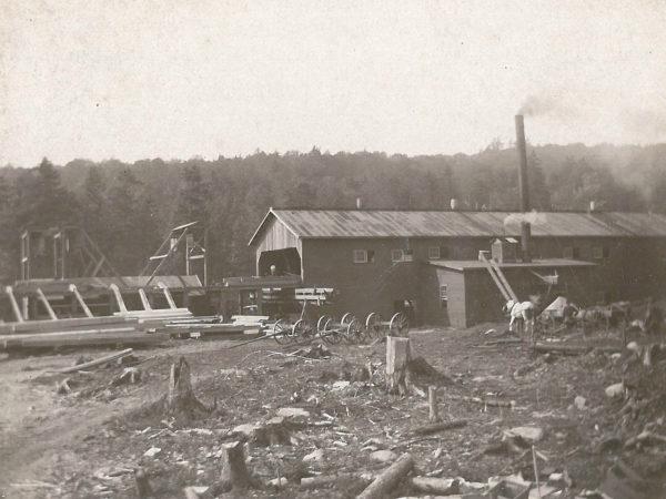 Sawmill yard in Newton Falls