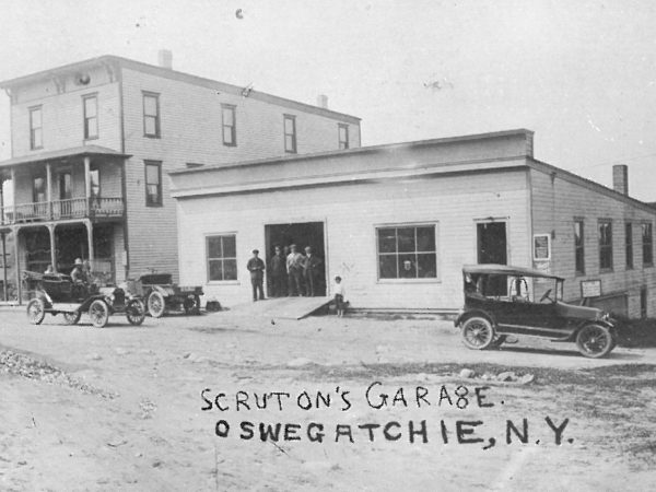 Scruton's Garage in Oswegatchie