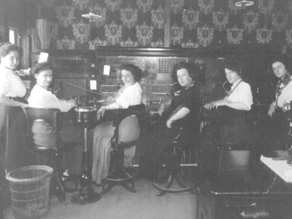 Telephone operators work switchboards in Gouverneur