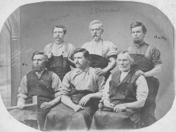 Canton blacksmiths in their working garb